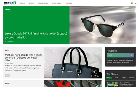 Screenshot of Press Page retexspa.com - News - Retex Spa - captured June 14, 2017