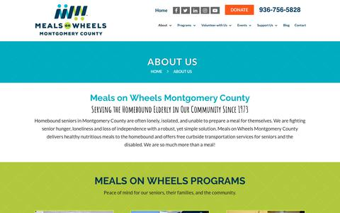 Screenshot of About Page mowmc.org - Meals on Wheels Montgomery County | Senior Care Services - captured Oct. 18, 2018