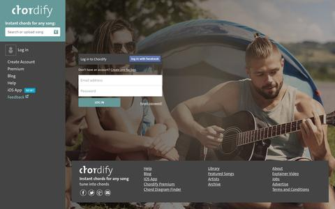 Screenshot of Login Page chordify.net - Sign in - Chordify - captured May 26, 2017