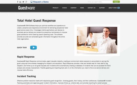 Hotel Guest Response - CRM Software for the Hotel Industry