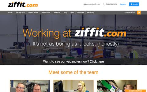 Screenshot of Jobs Page ziffit.com - Working at Ziffit | Vacancies | Careers - captured Sept. 22, 2018