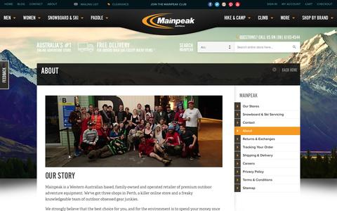 Screenshot of About Page mainpeak.com.au - About - captured Oct. 10, 2014