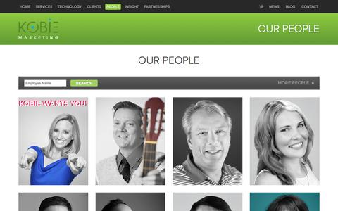 Screenshot of Team Page kobie.com - Loyalty Marketing Experts - captured Nov. 18, 2015