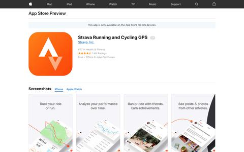 Strava Running and Cycling GPS on the AppStore