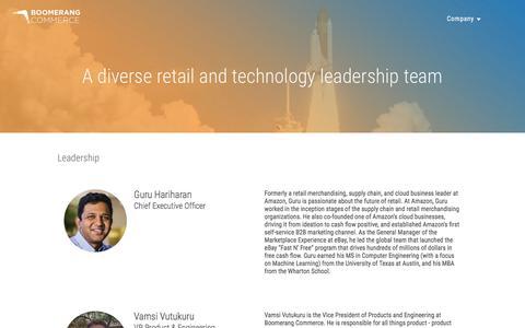 Screenshot of Team Page boomerangcommerce.com - Team — Boomerang Commerce - captured Sept. 22, 2016