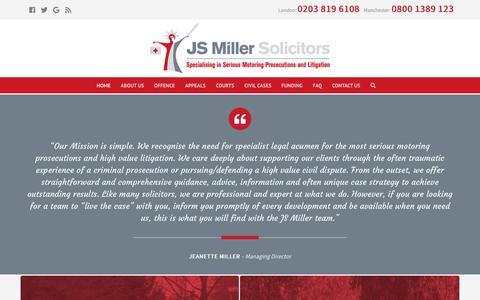 Screenshot of Home Page jsmillersolicitors.co.uk - Home - JS Miller Solicitors - captured Nov. 5, 2018