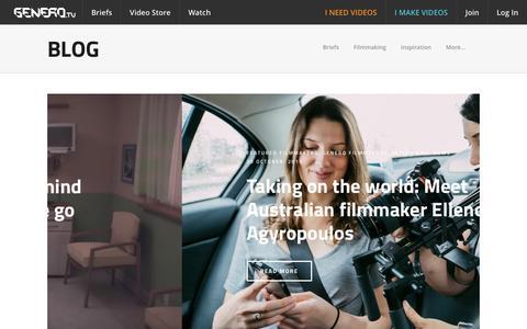 Screenshot of Blog genero.tv - Genero Blog | News, videos, interviews - captured Dec. 8, 2015