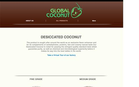 Screenshot of Products Page ptglobalcoconut.com - OUR PRODUCTS - captured May 13, 2017