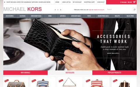 Screenshot of Home Page intuisdom.com - Discount MICHAEL Michael Kors Handbags Online | Sale up to 70% off - captured Nov. 26, 2016