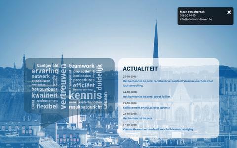 Screenshot of Home Page advocaten-leuven.be - Home - Advocaten Leuven - captured Nov. 6, 2018