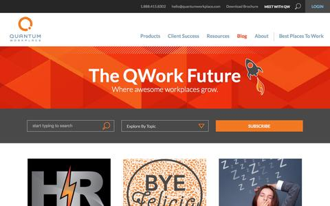 Screenshot of Blog quantumworkplace.com - The QWork Future | A Future of Work Blog from Quantum Workplace - captured March 27, 2016