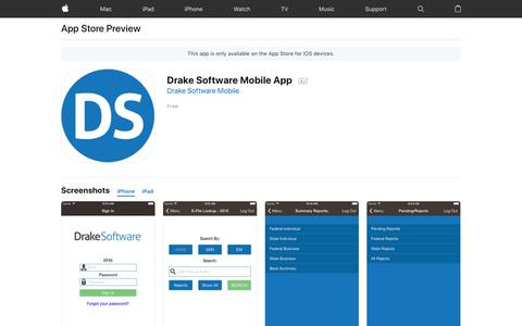 Drake Software Mobile App on the AppStore