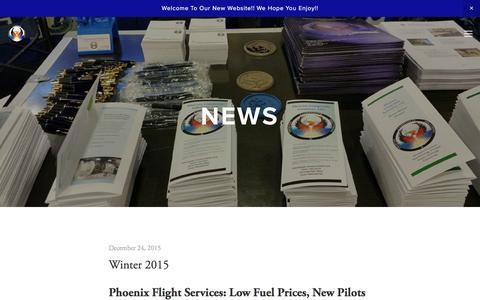 Screenshot of Press Page phoenix-mi.com - News — Phoenix Composite Solutions - captured Jan. 28, 2016