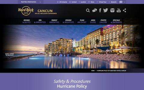 Hurricane Policy of Hard Rock Hotels Cancun