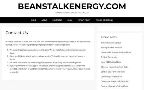 Screenshot of Contact Page beanstalkenergy.com - Contact Us – beanstalkenergy.com - captured Aug. 1, 2018