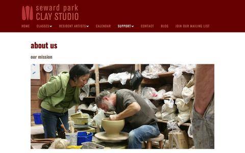 Screenshot of About Page sewardparkart.org - About Us - Seward Park Clay Studio - captured Oct. 24, 2017