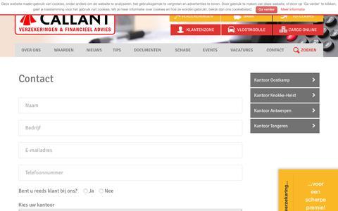 Screenshot of Contact Page callant.be - Contact - Callant Verzekeringen & Financieel Advies : Callant Verzekeringen & Financieel Advies - captured July 11, 2017