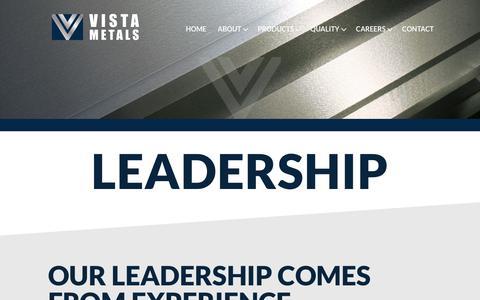 Screenshot of Team Page vistametals.com - Leadership   Vista Metals Corp. - captured Nov. 16, 2018