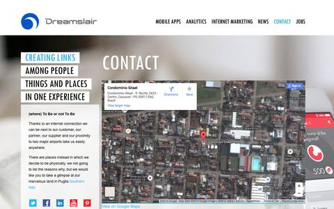 Screenshot of Contact Page dreamslair.com - Contact | Dreamslair - captured Feb. 9, 2016