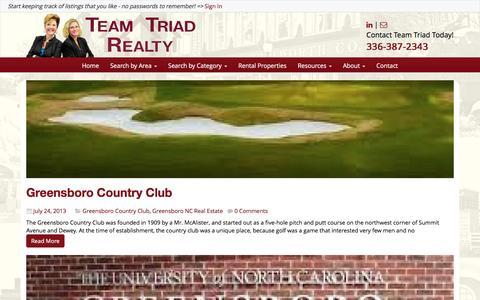 Screenshot of Blog teamtriad.com - Blog - Find NC Triad Homes For Sale - captured Feb. 22, 2016