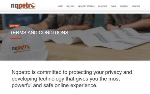 Screenshot of Terms Page nqpetro.com.au - Nqpetro Privacy Policy - captured June 15, 2017