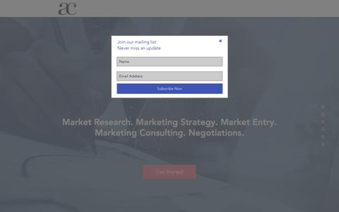 Screenshot of Home Page akunz-consulting.com - AKunz - Global Marketing Consulting - captured July 23, 2016