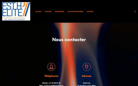 Screenshot of Contact Page esthelite.ch - Esth'Elite - Contact  | Esth'Elite - captured Nov. 11, 2018