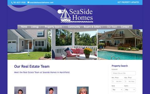 Screenshot of Team Page seasidehome.com - Marshfield Real Estate Team | SeaSide Homes | SeaSide Homes - captured Dec. 1, 2016