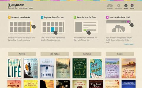 Jellybooks - discovering, sampling and sharing books