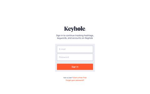 Screenshot of Login Page keyhole.co - Sign in - Keyhole - captured July 19, 2019