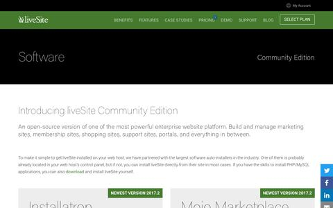 Screenshot of Developers Page livesite.com - liveSite Enterprise Website Platform - Open Source Community Edition - captured July 4, 2018