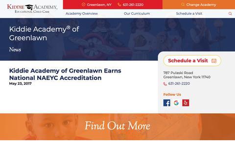 Screenshot of Press Page kiddieacademy.com - Preschool Childcare News in Greenlawn, NY | Kiddie Academy - captured Oct. 15, 2018