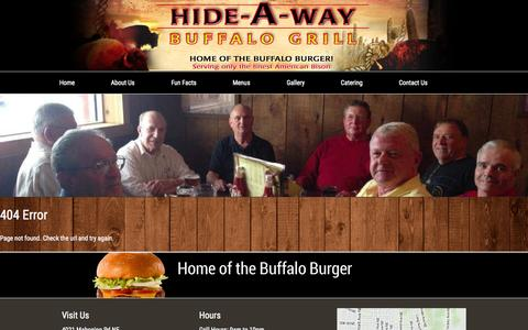 Screenshot of Maps & Directions Page hideawaybuffalogrill.com - Hide-A-Way Buffalo Grill - captured July 22, 2015