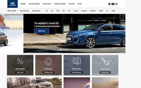 Screenshot of Home Page hyundai.cz - Auta značky Hyundai prémiové kvality      |              Hyundai Motor Czech s. r. o. - captured Jan. 15, 2017