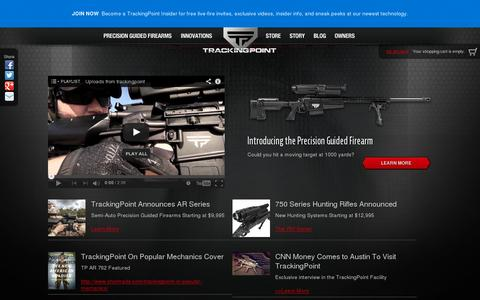 Screenshot of Home Page tracking-point.com - Official Site – XactSystem™ Precision Guided Firearms | TrackingPoint - captured July 11, 2014