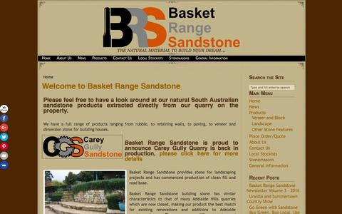 Screenshot of Home Page basketrangesandstone.com.au - Basket Range Sandstone –Basket Range Sandstone - All natural South Aussie stone - captured July 28, 2016