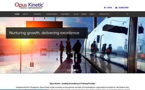 Screenshot of Home Page opuskinetic.com - Opus Kinetic - Leading Consultancy & In-house Training Providers - captured Oct. 18, 2018