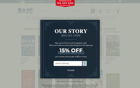 Screenshot of Press Page booksamillion.com - New This Month Books in Fiction, Nonfiction, Young Adult, Kids, & More : Books-A-Million Online - captured Jan. 4, 2020
