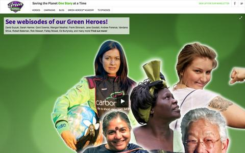 Screenshot of Home Page greenheroes.tv - Green Heroes™ - captured Sept. 30, 2014
