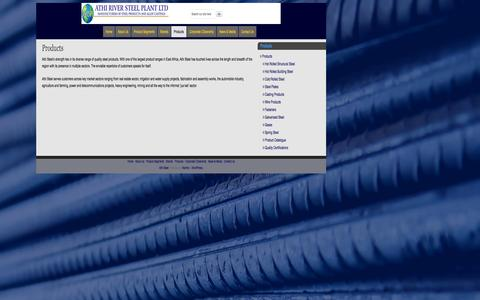 Screenshot of Products Page athisteel.com - Products   - Athi Steel - captured Nov. 3, 2014