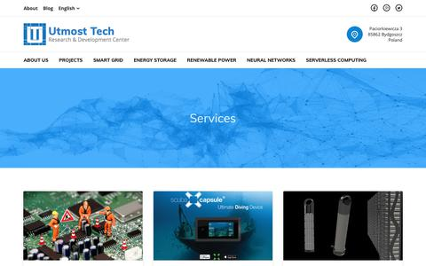 Screenshot of Services Page utmosttech.com - Services – Utmost Tech - captured Oct. 19, 2018