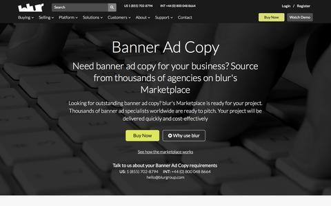 Banner Creation Adcopy | blur Group