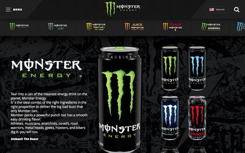 Screenshot of Products Page monsterenergy.com - Monster Energy | Monster Energy - captured June 19, 2017