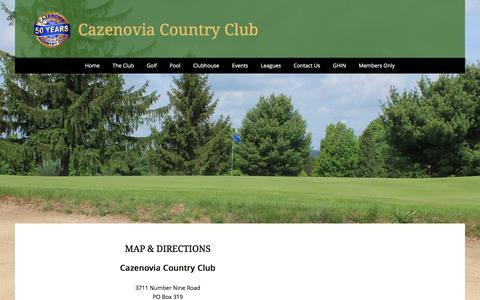 Screenshot of Maps & Directions Page caz-cc.com - Directions - caz-cc.com - captured June 13, 2016