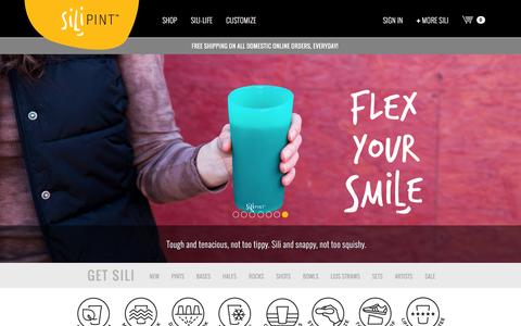 Screenshot of Home Page silipint.com - Silipint - Unbreakable Drinking Glasses - captured Feb. 4, 2016