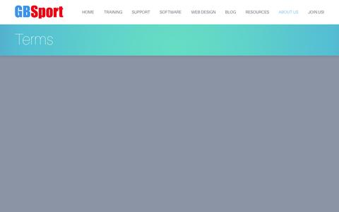 Screenshot of Terms Page gbsport.org.uk - Terms | GBSport - captured Oct. 28, 2014