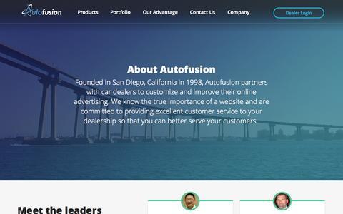 Screenshot of About Page autofusion.com - About Autofusion® - Car Dealer Websites - Auto Dealership Website Company - captured Oct. 29, 2014