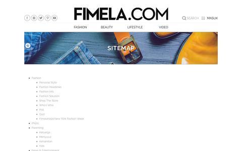 Screenshot of Site Map Page fimela.com - Sitemap - Fimela.com - captured Oct. 10, 2018