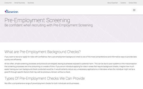 Pre - Employment Screening | Background Checking | Experian UK