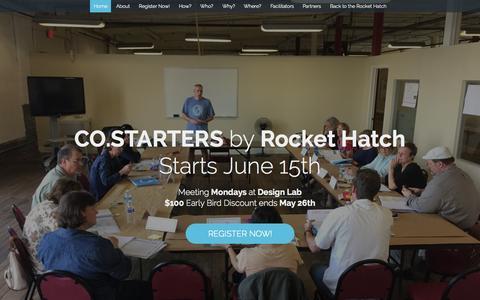 Screenshot of Signup Page rockethatch.org - CO.STARTERS North Alabama - captured July 16, 2015